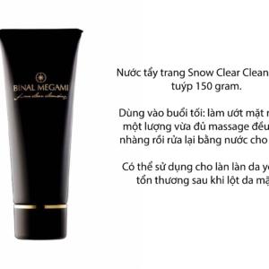 nước tẩy trang snow clear cleansing Binal Megami