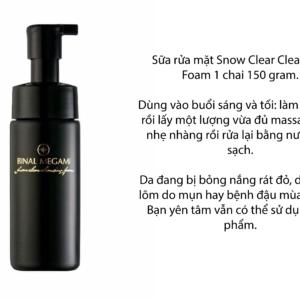 sửa rửa mặt snow clear cleansing Binal Megami