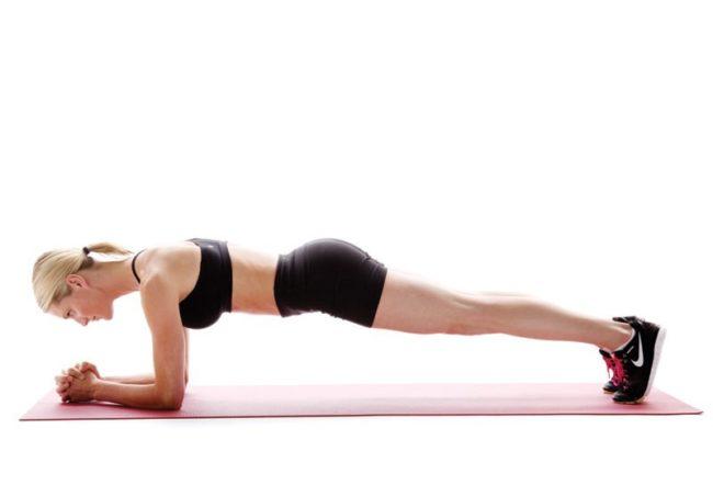 5 cách giảm mỡ bụng động tác plank