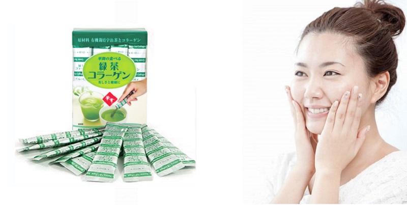 Collagen Hanamai Trà Xanh nhật bản