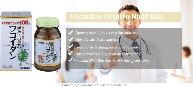 công dụng tảo fucoidan orihiro
