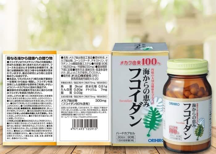 thuốc fucoidan orihiro chính hãng