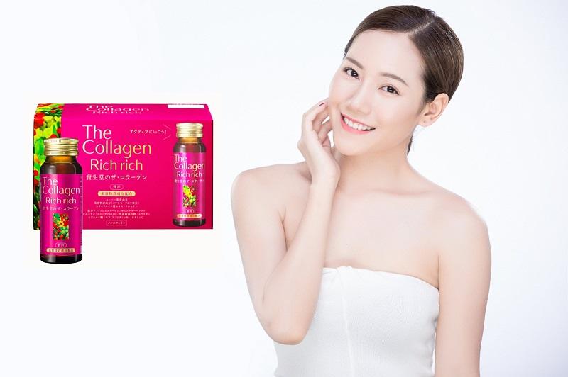 nước uống đẹp da collagen shiseido rich rich