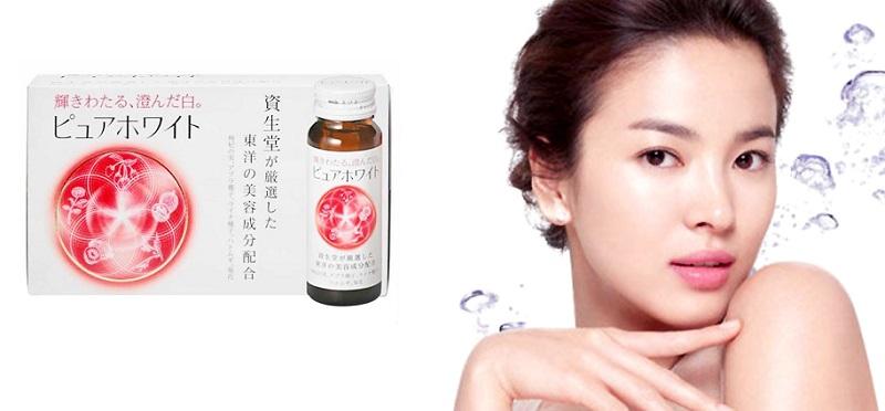 Collagen Shiseido Pure White - Nước Uống Trắng Da - Vẻ Đẹp Nhật Bản
