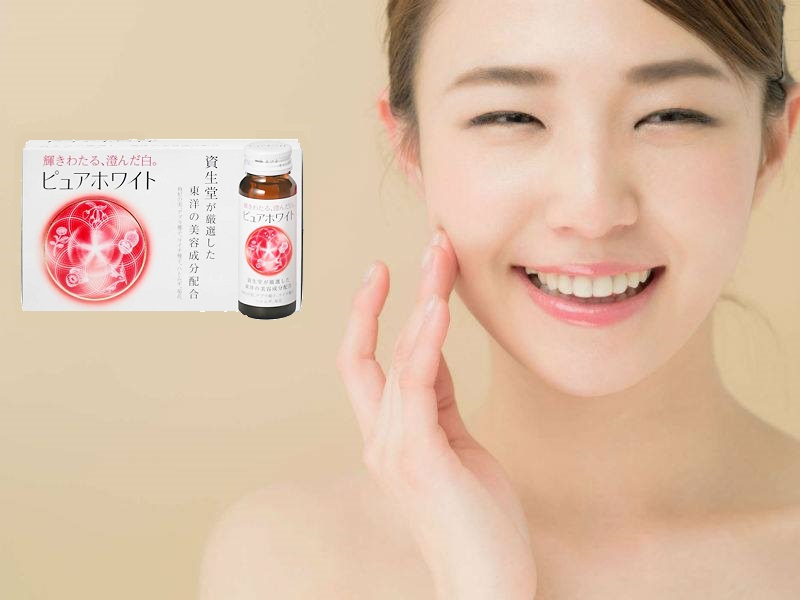 nước uống trắng da collagen shiseido pure white