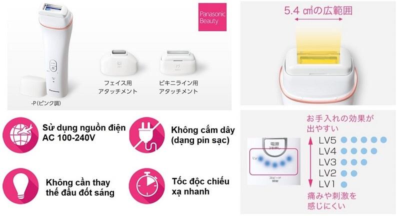 Panasonic ES WH95 - Máy Triệt Lông Face & Body