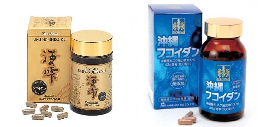 umino shizuku fucoidan và okinawa fucoidan