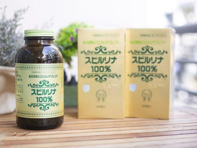 viên uống tảo xoắn spirulina 2200 viên Nhật Bản