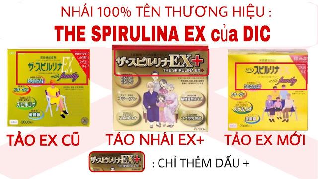cách phân biệt tảo vàng spirulina ex thật và giả